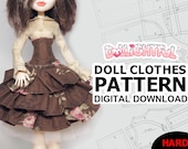 DIGITAL Download Doll Clothes Pattern Steampunk Lolita Dress for MH Girls
