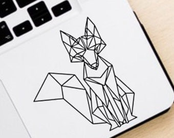 Fox Vinyl Decal- Geometric Fox Decal- Geometric Fox Wall Decal- Fox Sticker