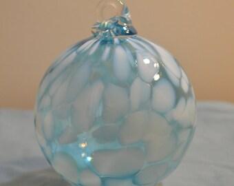 Hand Blown Blue Glass Ornament