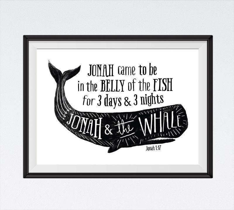 Instant Download Jonah And The Whale Bible Verse Printable Etsy