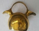 Vintage Brass Double Spout Handled Jug Pitcher