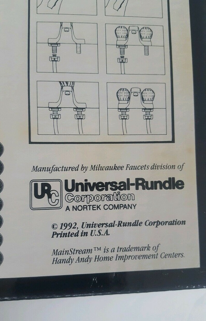 NOS Universal-Rundle Milwaukee Faucets Mainstream Washerless Bathroom Faucet