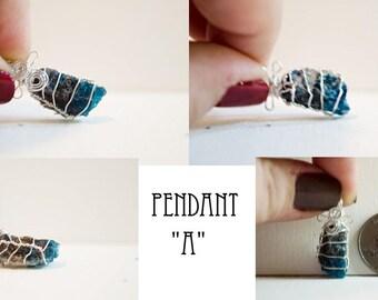 Blue Apatite Pendant