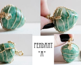 Emerald in Fuchsite Pendant