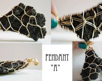 Black Kyanite Pendant