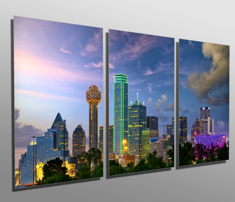 I Dallas At Dusk Art Print Home Decor Wall Art Poster