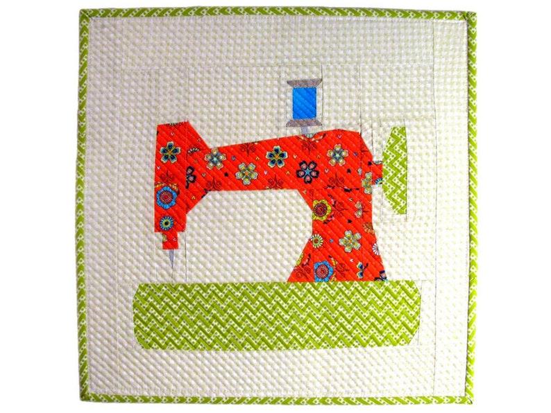 SEWING MACHINE Mini Quilt Pattern 15 x 15 37.5cm x37.5cm