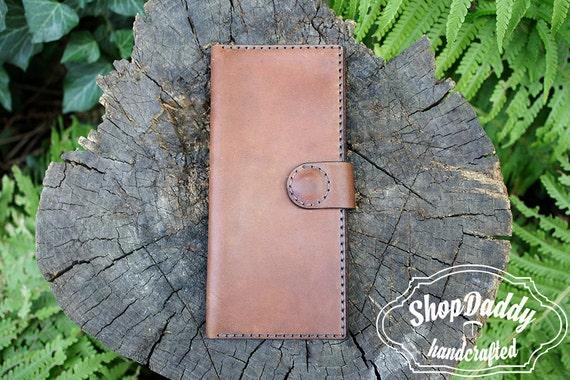Personnalisé portefeuille, iPhone portefeuille, titulaire de la carte, portefeuille marron, pochette portefeuille, porte monnaie en cuir, porte monnaie en cuir pour femmes, chéquier, cadeau de sa