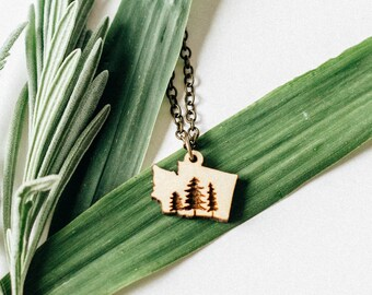 Washington Necklace | Washington Trees | Washington Jewelry | Outdoors