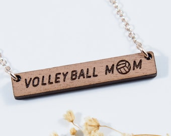 Volleyball Mom Bar Necklace
