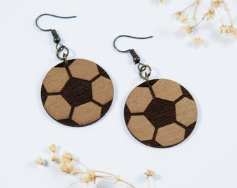 Soccer Dangle Earrings