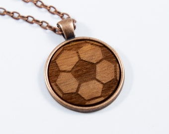 Cabochon Soccer Necklace