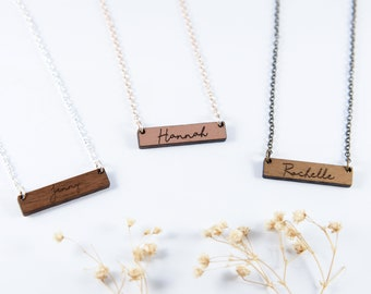 Name Bar Necklace | Initial Bar Necklace | Personalized Necklace | Name Necklace