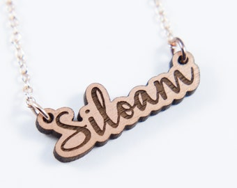 Siloam Script Necklace