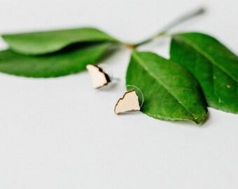 South Carolina Wood Stud Earrings, Laser Cut Wood Earrings, State Shape Earring, Minimalist Stud Earring, South Carolina Tiny Stud Earrings