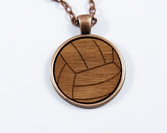 Cabochon Volleyball Necklace