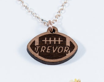 Football Engraved Personalized Necklace