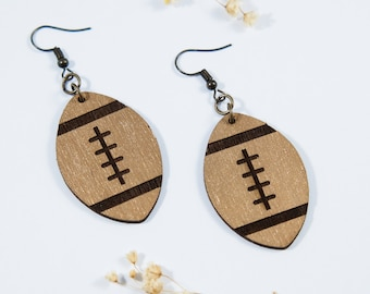 Football Dangle Earrings