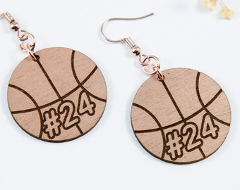 Basketball Personalized Dangle Earrings