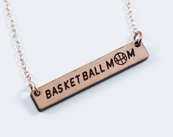 Basketball Mom Bar Necklacea