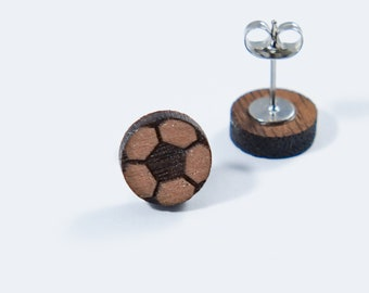 Soccer Stud Earrings
