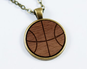 Basketball Cabochon Necklace