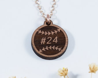 Baseball Personalized Pendant Necklace