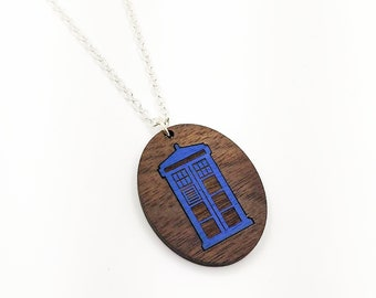 Police Call Box Necklace