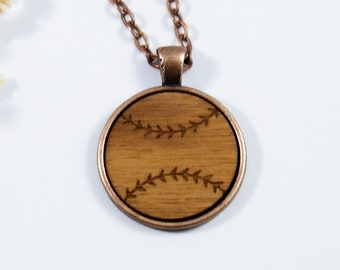 Baseball Cabochon Necklace