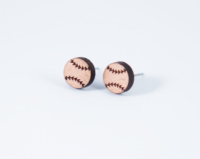 Featured listing image: Baseball Stud Earrings | Softball Stud Earrings | Sports Earrings