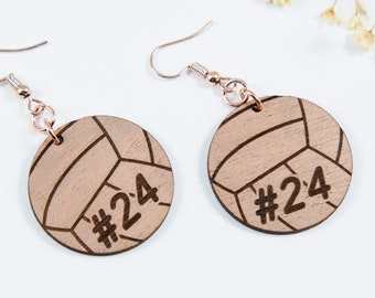 Personalized Volleyball Dangle Earrings
