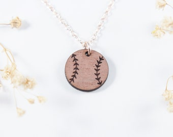 Baseball Necklace | Engraved Jewelry | Softball Jewelry