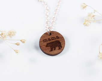 Mama Bear Necklace | Mom Jewelry | New Mom Necklace
