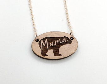 Mama Bear Necklace | Gift For New Mom | Mama Bear | Anniversary Gift