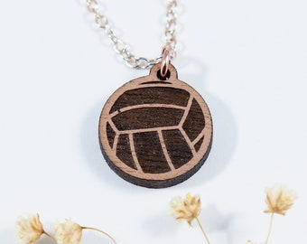 Volleyball Engraved Stud Necklace