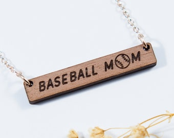 Baseball Mom Bar Necklace