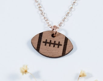 Football Engraved Necklace
