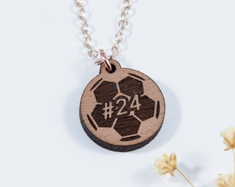 Soccer Engraved Personalized Necklace