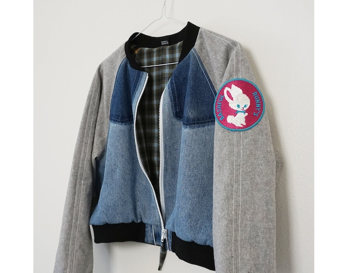 Limited Edition - Bashful Bunny Recycled Crop Bomber  |  XL