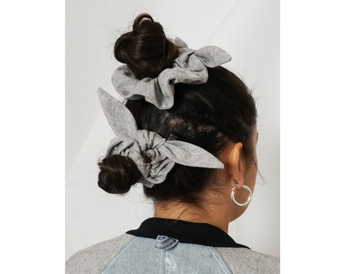 Bandanna Bow - Recycled Fiber Scrunchie