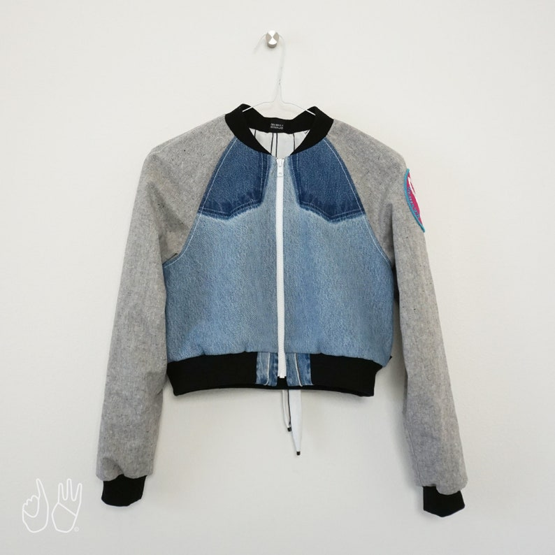 Limited Edition XXS Bashful Bunny Recycled Crop Bomber