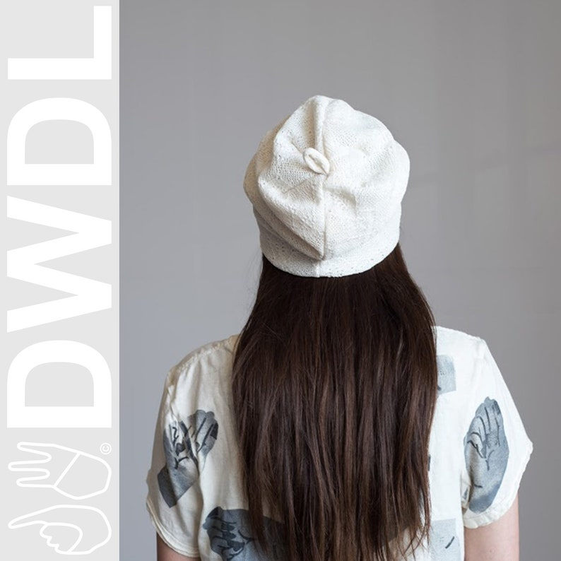 Vintage Material One of a Kind Reclaimed /& Revitalized Slouchy /'Bisou Beanie/' in Ivory OSFM