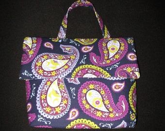 Purple Paisley Bible Bag