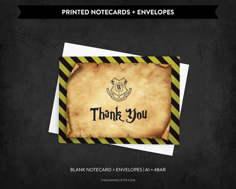 Witches and Wizards Thank You Cards Packaged Notecards Blank Notecard Set Printed Notecards /& Envelopes KBD012-Y