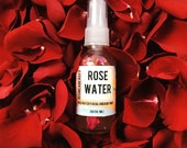 Rosewater Facial and Body Mist- Rosewater Toner- Facial Tonic- Rose Water- Cucumber Facial Toner- Rejuvenating Facial and Body Mist
