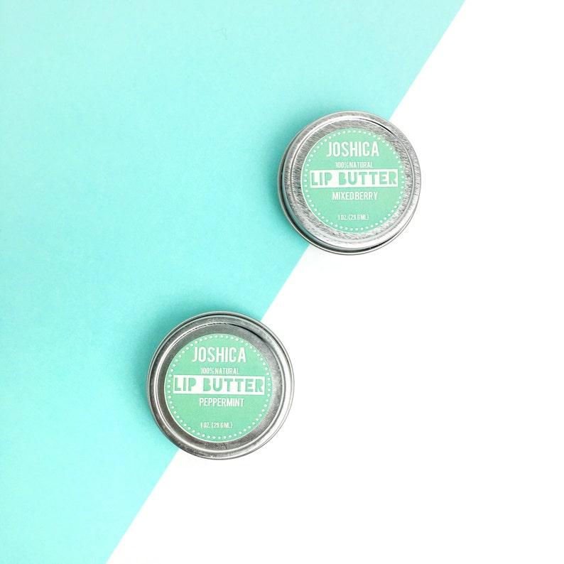 Peppermint Lip Butter 100% natural organic Fresh Mint image 0