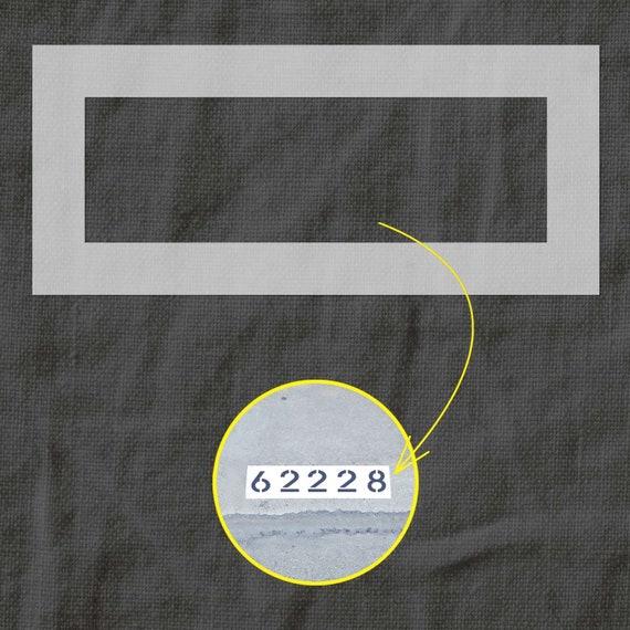 Curb Stencil Frame for 5 Digit Address - Number Stencils Frame for Parking  - Stencil for Painting - Custom Plastic Mylar Stencil