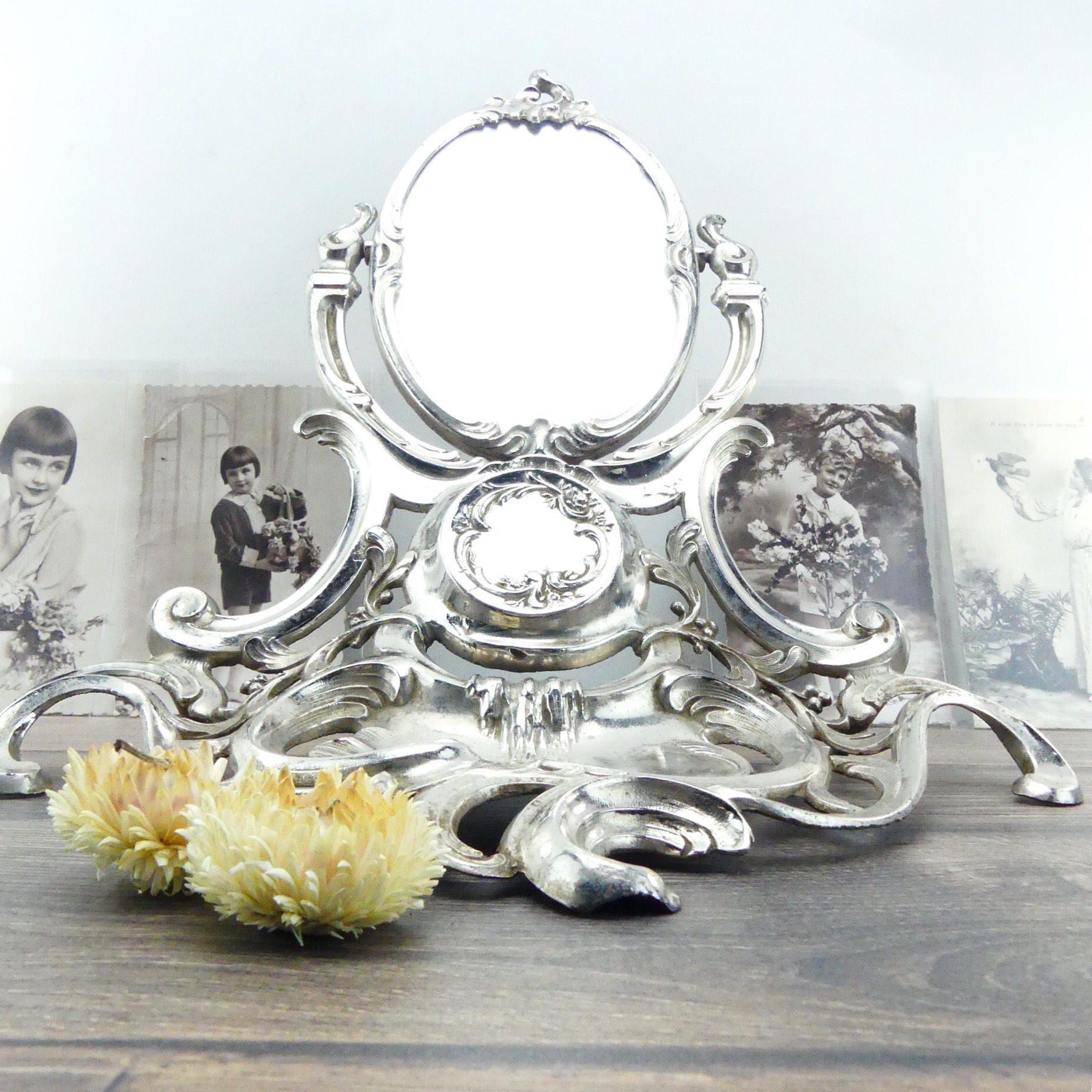 Antique Mirror Silver Mirror Bedroom Mirror Dressing Table Mirror French Chic Mirror Vanity Mirror Princess Mirror