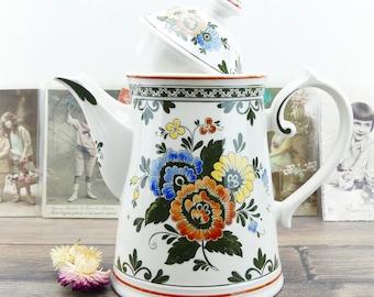 Coffeemaker - Villeroy boch - Alt amsterdam - Large coffee maker - Boch - kitchen decor - Flowers - Country - Vintage kitchen
