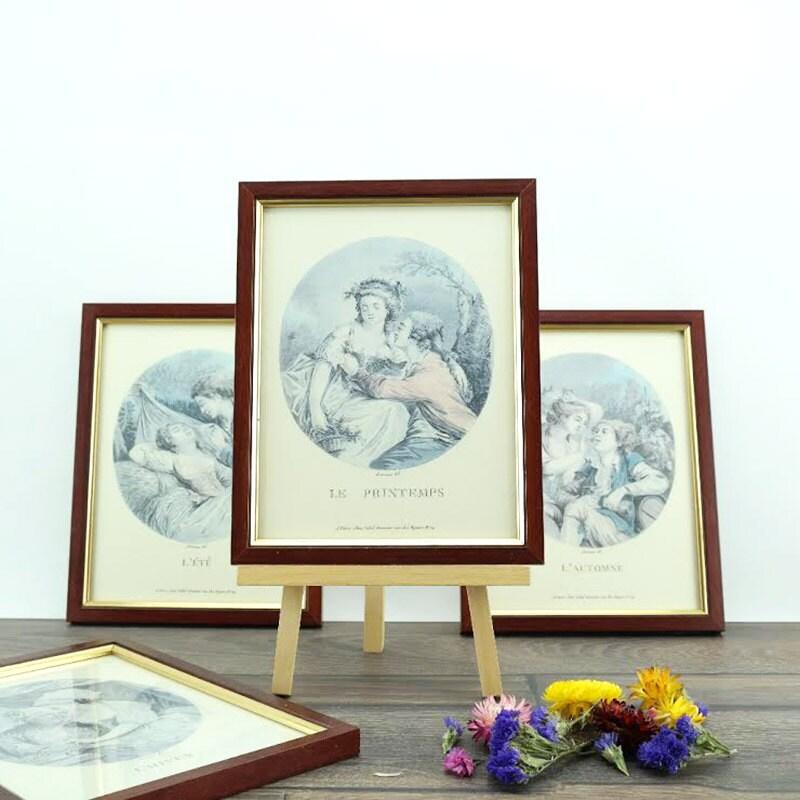 Old wooden frame - antique wood - Antique Frame - Old Engraving ...
